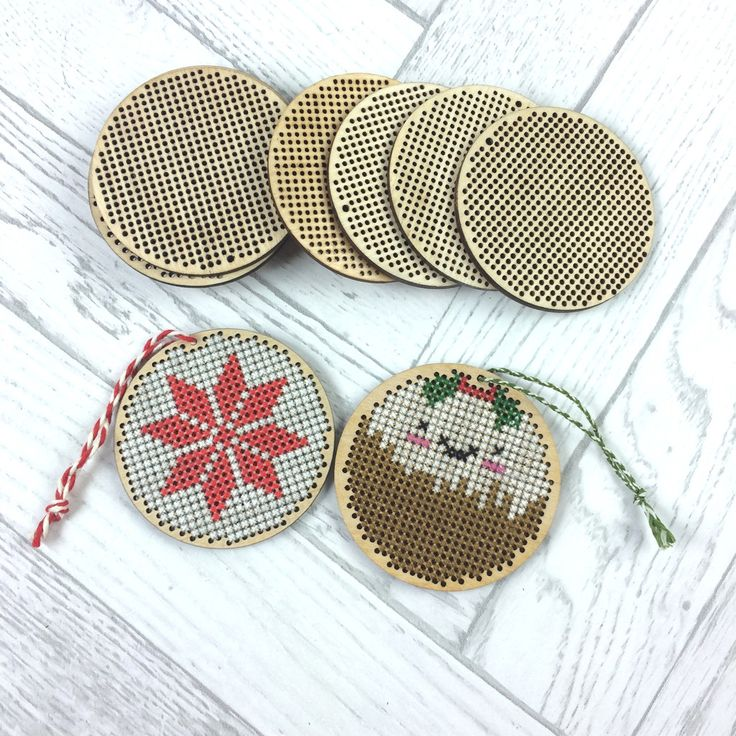 Cross Stitch Wooden Blank Pendant