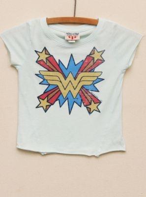 Kids Girls Wonder Woman Heather Asymmetrical tee  $32  www.junkfoodclothing.com