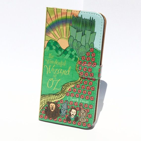 Book phone /iPhone flip Wallet case The Wizard by chicklitdesigns