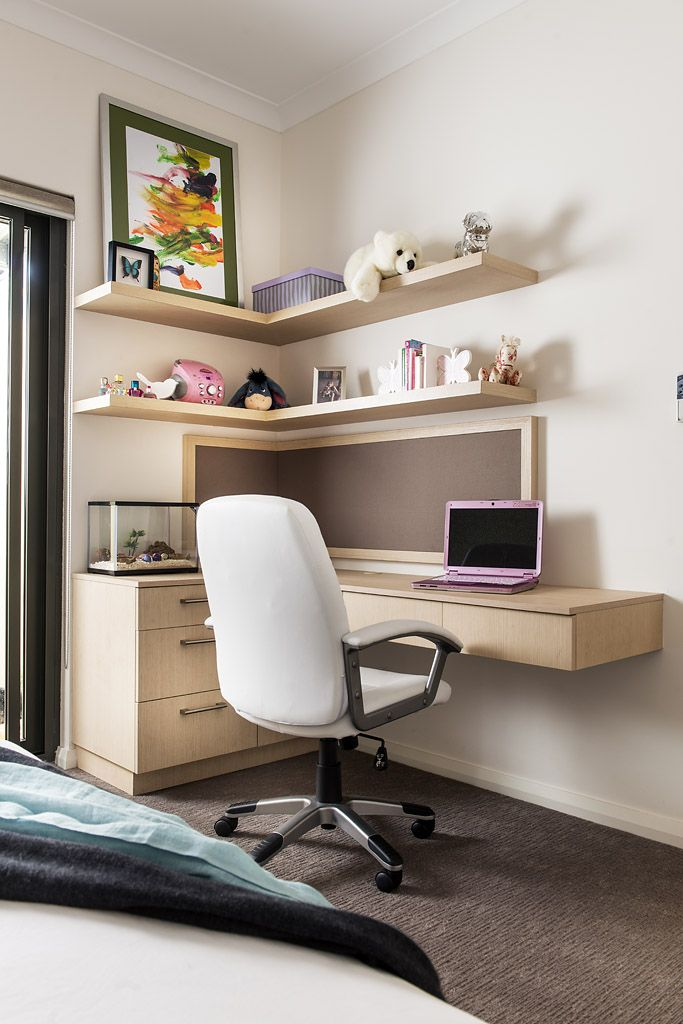 Custom designed desk and pin-up board for a teen room by Urbane Projects, Perth