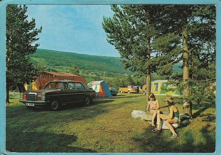 Oppland fylke Lesja kommune Lesjaskogsvatnet camping 1970-tallet Foto Kai Myhr, Vinstra