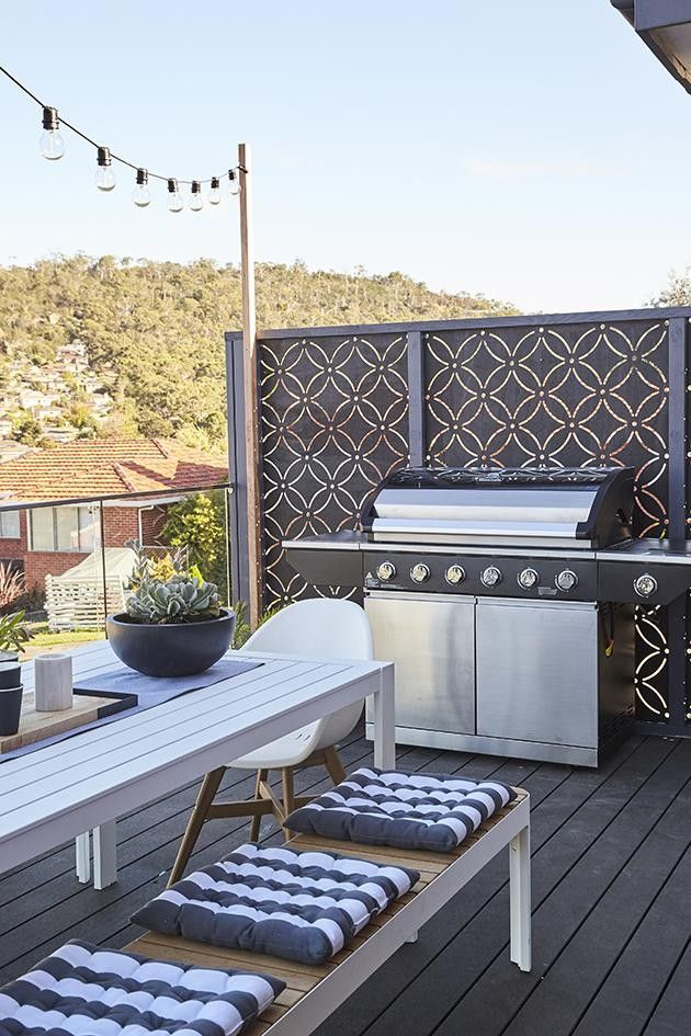 TAS Garden Transformation: Front Yard QAQ Decorative Screens & Panel's 'Eden' design was used to transform this TAS balcony on House Rules. QAQ is a proud supplier of House Rules.