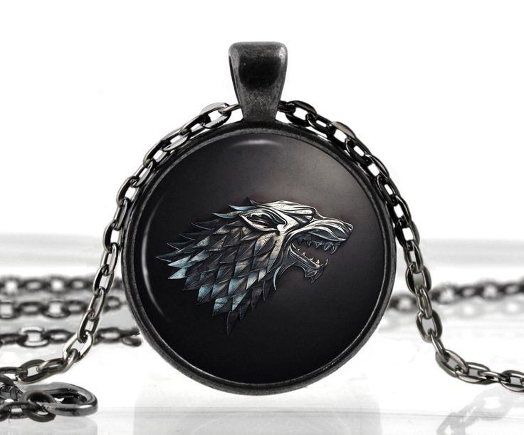 Barato Game of Thrones colar pingente House of Stark Black Wolf jóias gótico óculos colar de pingente camisola cadeia presente para as crianças, Compro Qualidade Colares com pingente diretamente de fornecedores da China:                          A ordem é mais do que US $180.            Ems, DHL