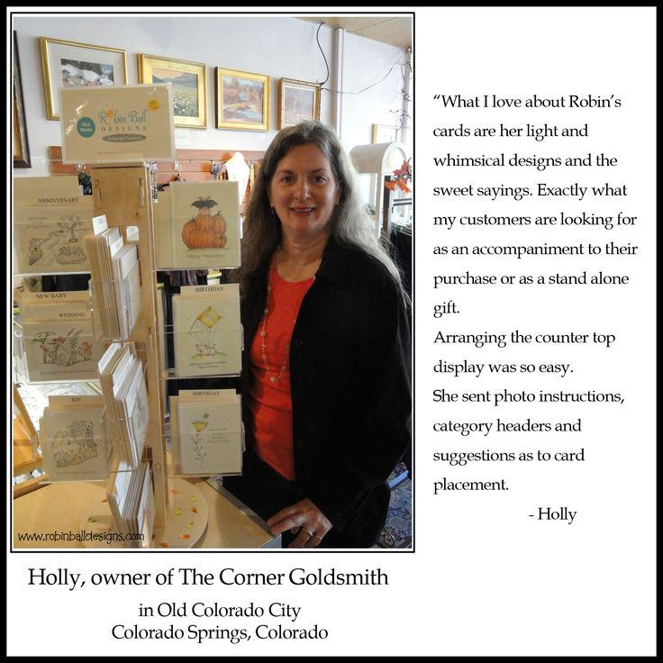 Holly Martin, owner of The Corner Goldsmith, in Old Colorado City, Colorado Springs, CO.