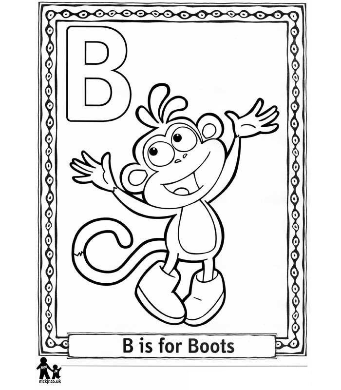 26 Coloring Pages Of Doras Alphabet On Kids N Funcouk