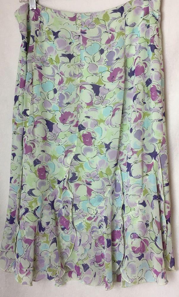 """1ed2b070d Women's Juniors Skirt Flared A-line Sz 12 Floral Newsworthy W32""""  #Newsworthy #FlareSkirt #allOccasion"""
