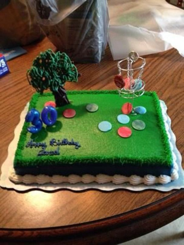 Golf Cake With Images Disc Golf Golf Cake Disc Golf Basket