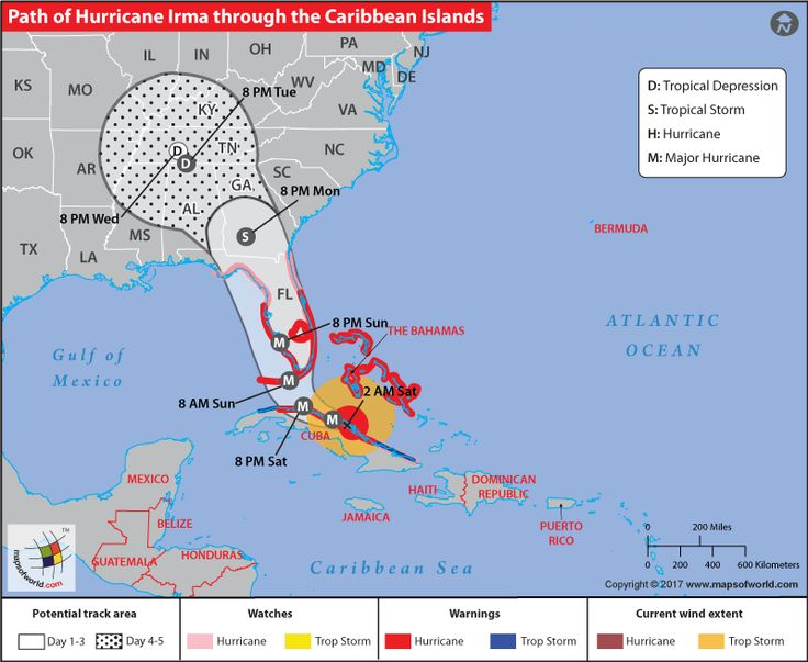 Hurricane Irma Track Map This Track Map Of Hurricane Irma Shows The Predicted Path