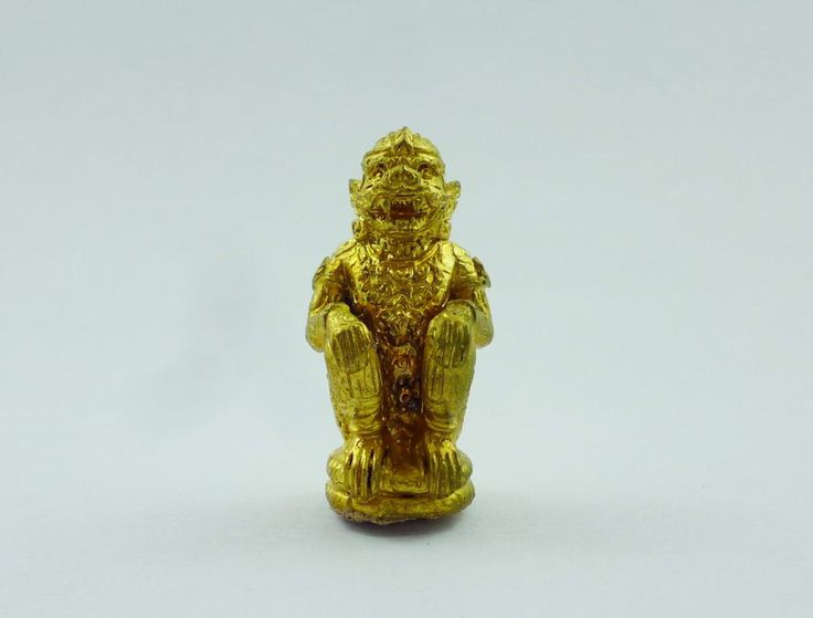 Lord Hanuman Monkey King with Holy Powder. by AmuletSiam on Etsy