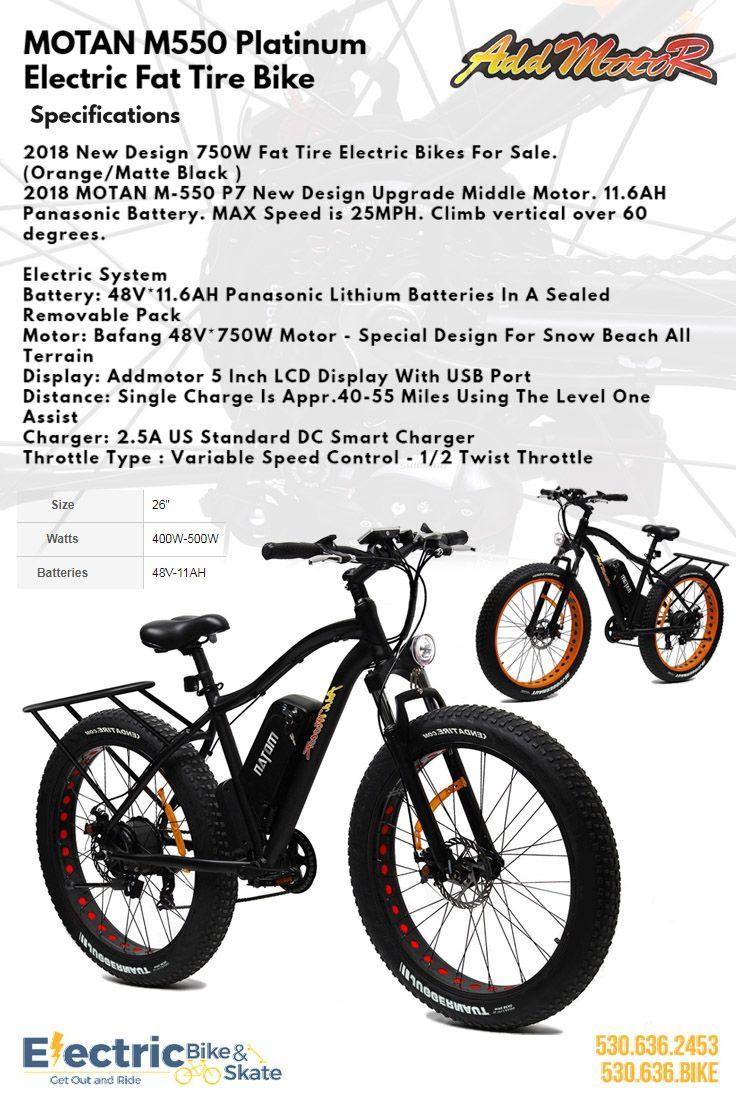 d9784438c4e Addmotor MOTAN M550 P7 Electric Fat Tire Bike | Electric Bikes | Bike  equipment, Bike, Scooter bike