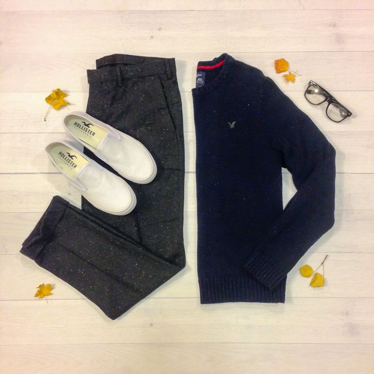 Sweater: American Eagle   Wool Blend Trousers: H&M   Shoes: Hollister   IG: @drewsdrawers