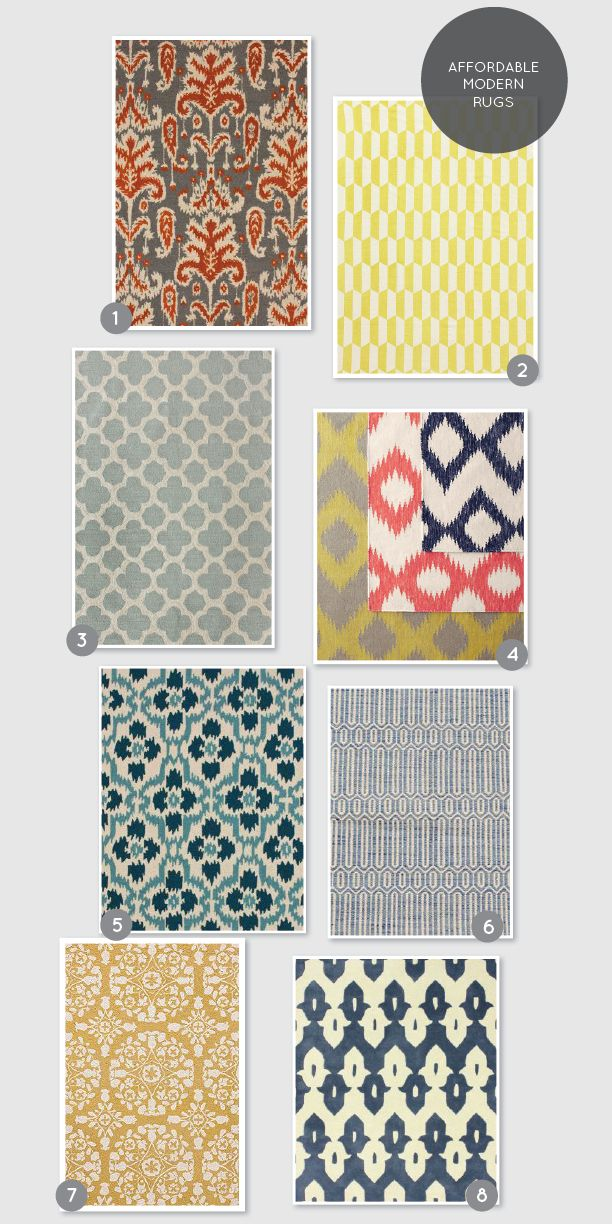 Affordable Modern Rugs on www.aliceandlois.com