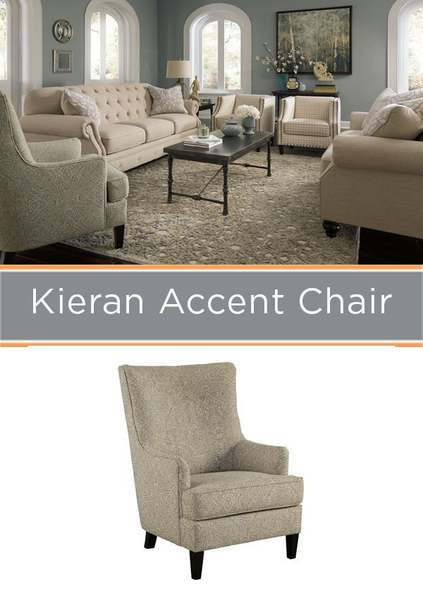 A high back accent chair makes a cool