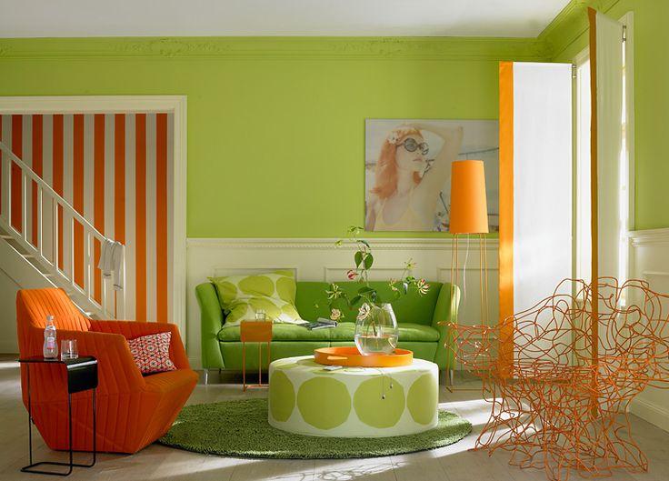 12 Best For The Living Room Images On Pinterest Living Orange Green Room