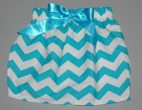 Chevron Mini Skirt - Turquoise mini skirt comes in multiple colors only $7.49…