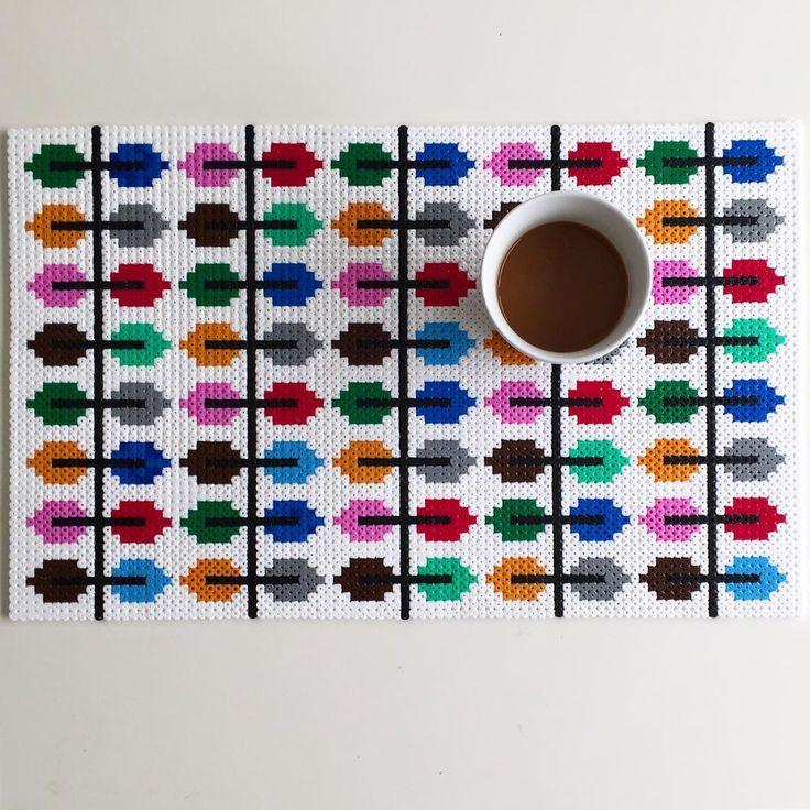 Tablemat hama perler beads by parlpluttan
