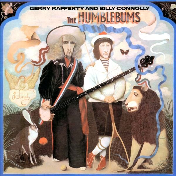 Record sleeve for the Humblebums, 1969 31.3 x 31.3 cm (123 ⁄8 x 123 ⁄8 in) Transatlantic Records TRA 20 Billy Connolly and Gerry Rafferty in their short partnership as 'Patrick' characters.