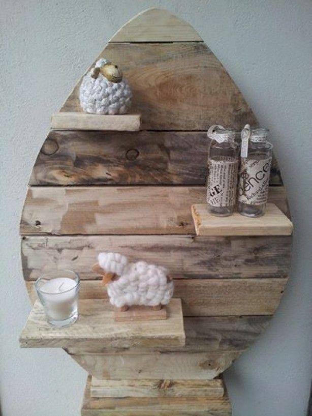 Paasei gemaakt van sloophout te bestellen bij vanetje vanetjes kleintjes pinterest photos - Redo houten trap ...
