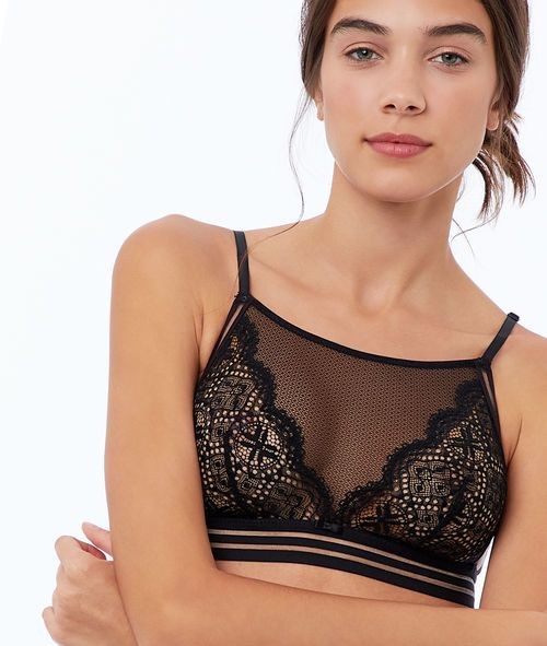 a0fcb658cd046 Lace and tulle bralette