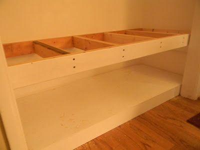 Mudroom Closet bench tutorial