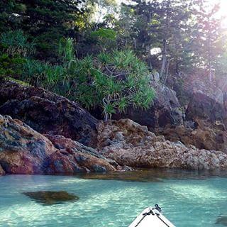 Kayaking in Chance Bay, Whitsunday Island, QLD