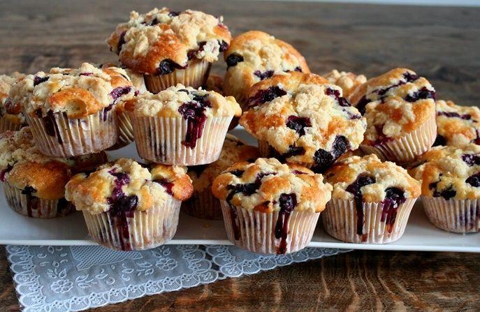 Blauwe bessen muffins Ottolenghi 1