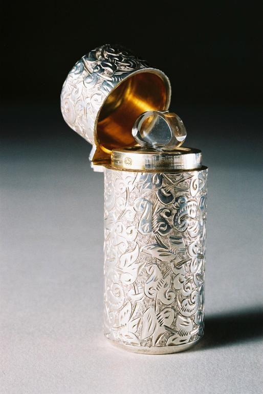 Image detail for -Leopard Antiques Sampson Mordan Antique Silver Perfume Bottle