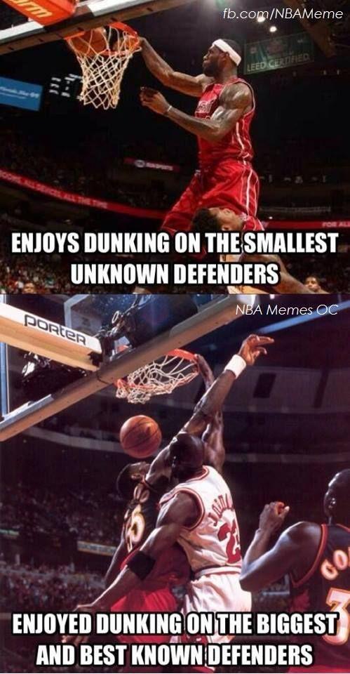 LBJ vs. MJ! - NBA Memes - http://weheartmiamiheat.com/lbj-vs-mj-nba-memes/