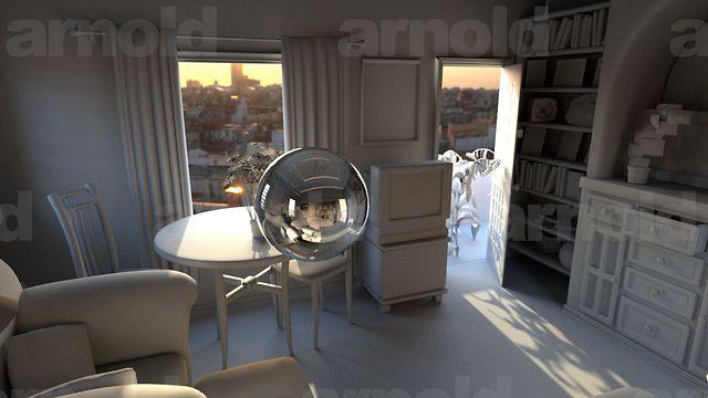 Arnold Maya Rendering Tutorial - basic interior sunlight - 3D files avail free at Dropbox on Vimeo