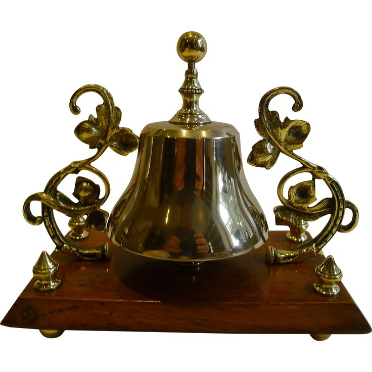 Decorative Bell Inspiration Unusual Antique English Brass And Oak Desk  Counter Bell C1880 Review