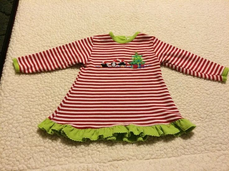 Toddler Girl Christmas Dress Size 12 Mos Squiggles  | eBay