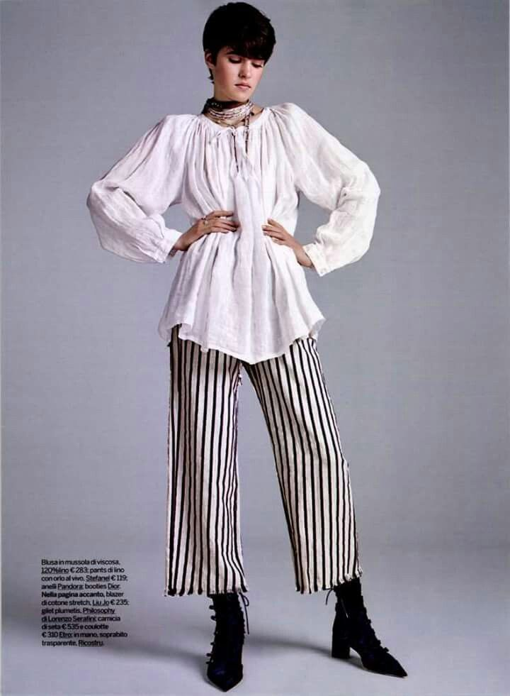 Ti piace vestire comodo ma alla moda? Allora i pantaloni di lino a righe di stefanel sono cio che fa per te perche sono pratici ma cool!  #stefanel #stefanelvigevano #vigevano #lomellina #piazzaducale #stile #moda #springsummer2016 #look #outfits #lookdonna #outfitsdonna