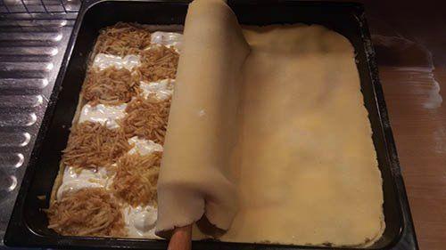 NapadyNavody.sk | Mriežkovaný jablkový koláč s tvarohom FOTOPOSTUP