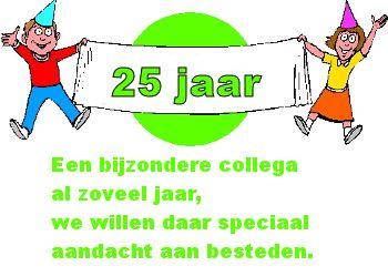 Tekstje voor 25 jaar bij de zaak op Feest-Plaatjes.nl