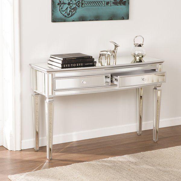 Elosie Mirrored Console Table Mirrored Console Table Mirror Console Furniture