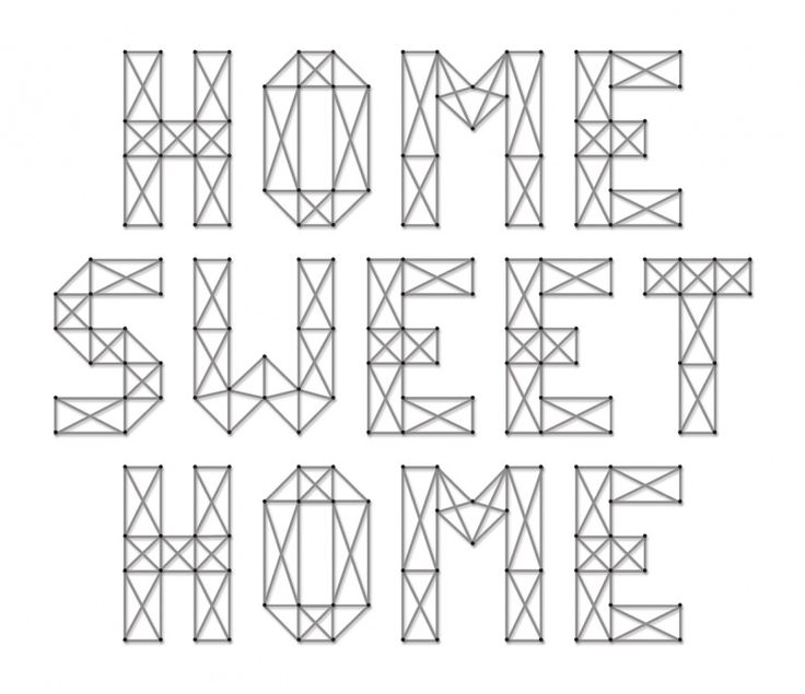 Home Sweet Home   Spijkerschriften   spijkerpatroon