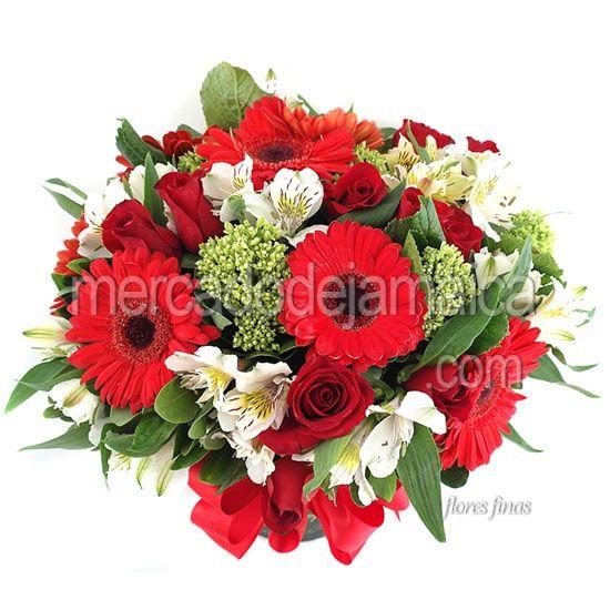 Arreglo Florales Gerberas Rojas Llegaste Tú !| Envia Flores