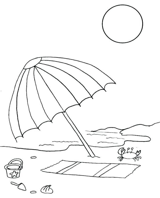 Umbrella Coloring Pages Summer Coloring Pages Beach Coloring
