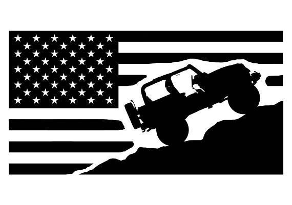 Download Flag Vinyl Decal For Jeeps in 2020   Jeep life decal, Jeep ...