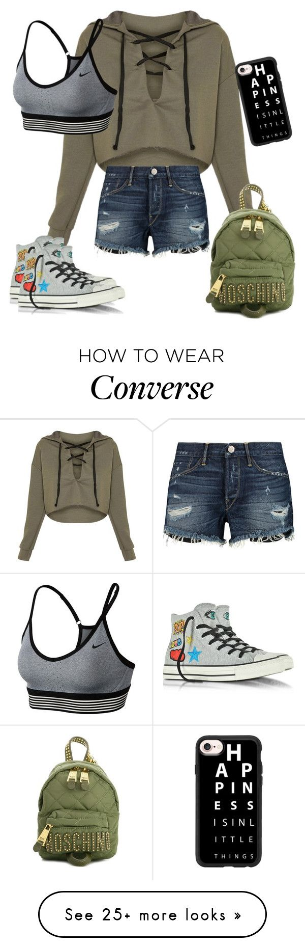 """Untitled #363"" by amea412 on Polyvore featuring 3x1, NIKE, Moschino, Converse and Casetify"