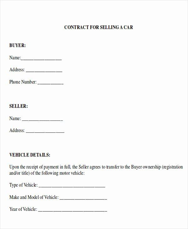 Private Car Sale Agreement Template Unique Sample Car Sales Contract 12 Examples In Word Pdf Rental Agreement Templates Contract Template Car Payment