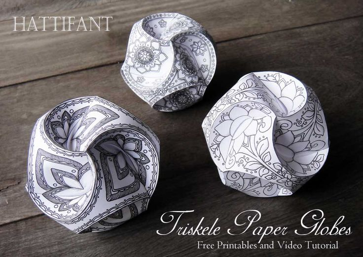 Color and make these stunning paper balls also called Triskele Paper Globes with our FREE printables and Video Tutorial! An easy craft for the family!