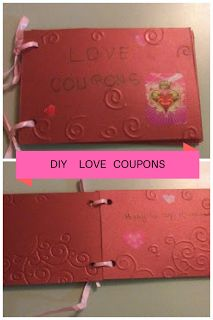 DIY love coupons for boyfriends/husband. Perfect gift for your loved one.