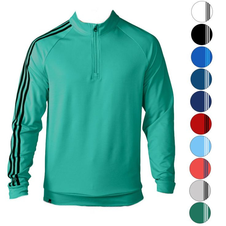The Adidas Climalite 3 Stripes 1/4 Zip Pullover is perfect for those colder days on or off the course. This premium pullover features a terry fleece b... #golf #mens #clothing #shoes #accs #tops #sweaters #shirts #sporting #stripes #pullover #closeout #adidas #goods