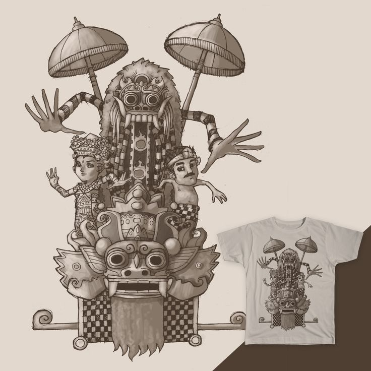 Barong and Rangda (Bali) on Threadless