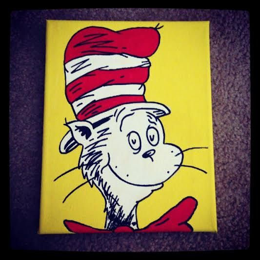 50 best ideas about dr seuss art on pinterest dr suess for Cat in the hat bedroom ideas