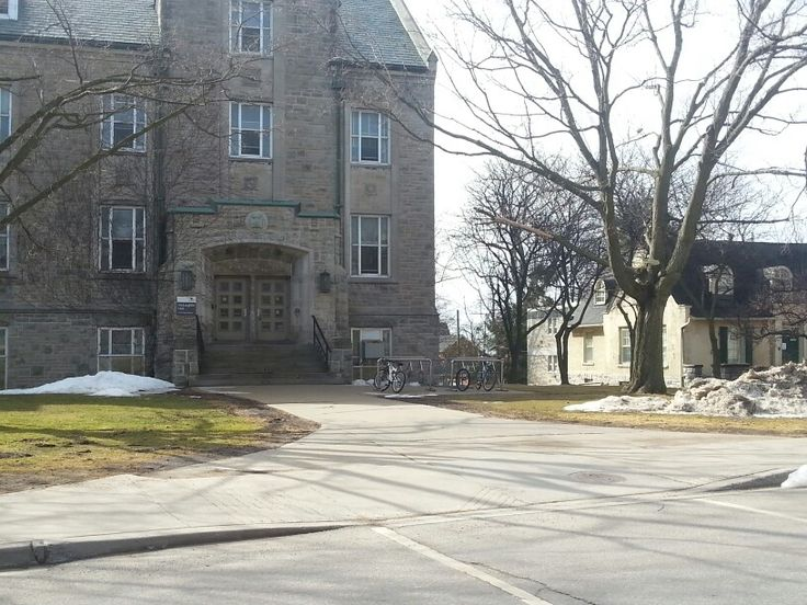One of the many limestone buildings at Queen's University!