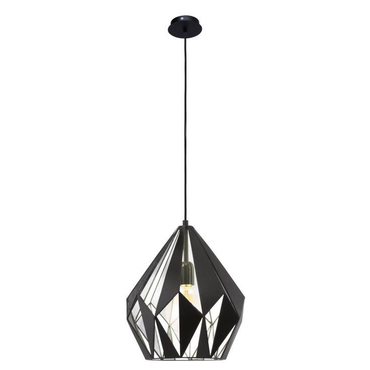 87,50 Eglo Carlton Hanglamp - zwart/zilver