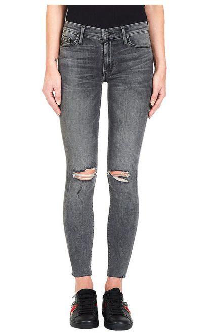 311bdba5714 BLACK ORCHID Noah Ankle Fray Destroy Skinny Jeans Dead & Gone Grey 26 $212  #392 #BlackOrchid #SlimSkinny