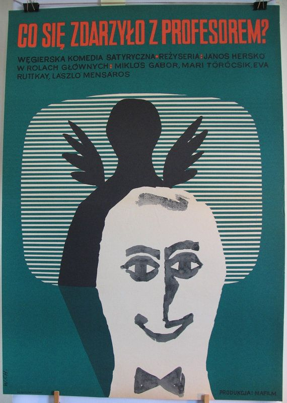 Art wall Hungarian 1970s film by János Herskó  by artwardrobe, $49.99